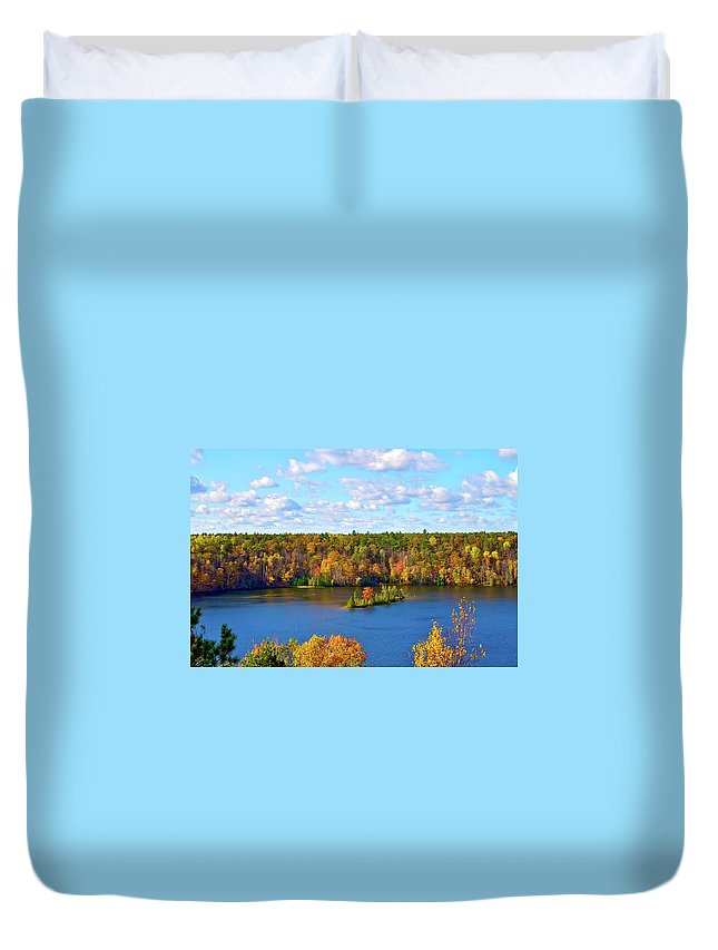 Scenics Duvet Cover featuring the photograph Mountain View Of Huron-manistee Forest by William Goldsmith