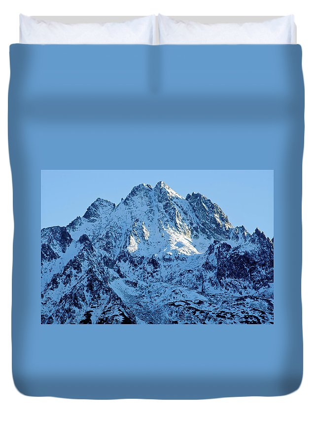 Scenics Duvet Cover featuring the photograph Mountain by Yorkfoto