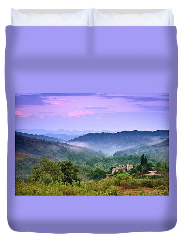 Scenics Duvet Cover featuring the photograph Mountains by Christian Wilt