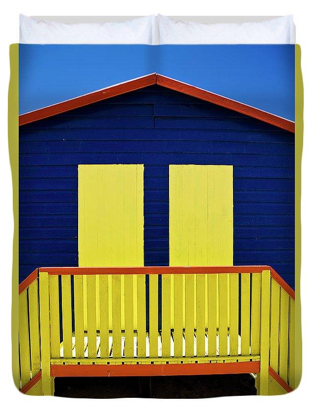 Steps Duvet Cover featuring the photograph Muizenberg Beach by Paul Piebinga