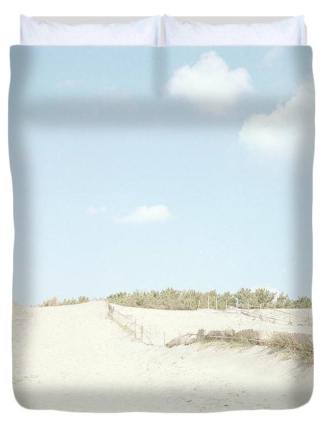 Scenics Duvet Cover featuring the photograph Nakatajima Sand Dunes by Haribote.nobody