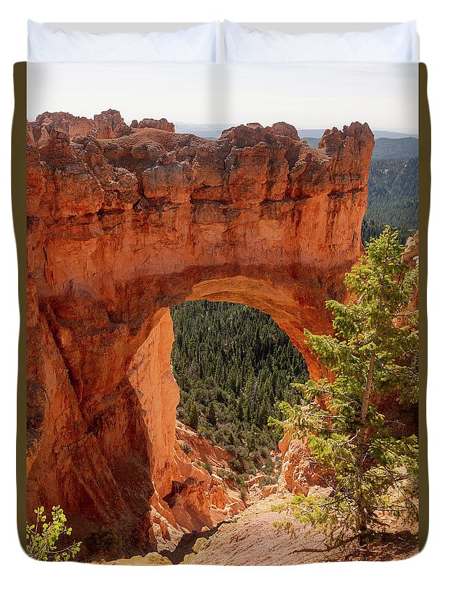 Natural Bridge Duvet Cover featuring the photograph Natural Bridge - Bryce Canyon - Utah - Vertical by Debra Martz