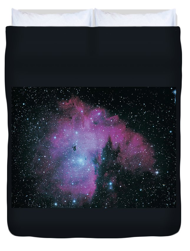Purple Duvet Cover featuring the photograph Nebula by Digital Vision.