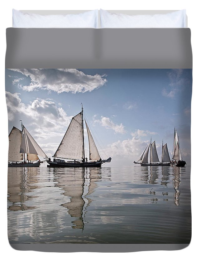North Holland Duvet Cover featuring the photograph Netherlands, Race Of Traditional by Frans Lemmens