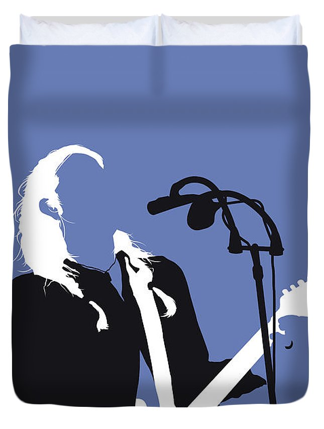 Dandy Duvet Cover featuring the digital art No218 My Dandy Warhols Minimal Music Poster by Chungkong Art