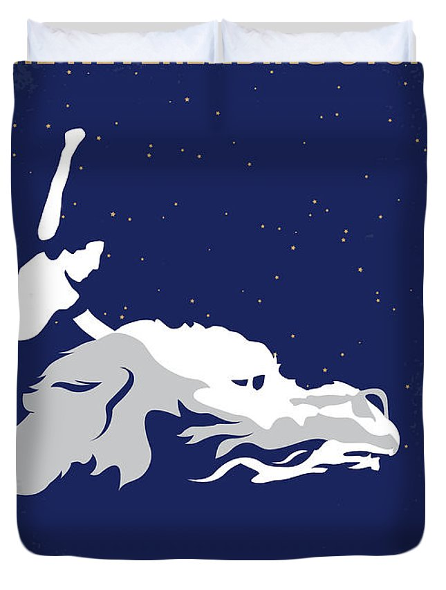 The Duvet Cover featuring the digital art No975 My The Neverending Story Minimal Movie Poster by Chungkong Art