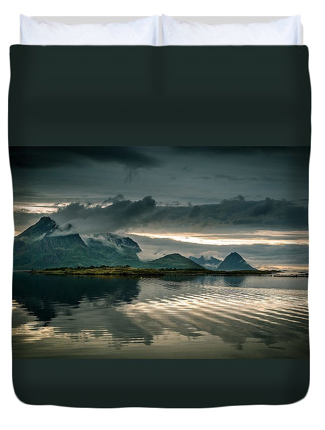 Tranquility Duvet Cover featuring the photograph Norway Landscape by Nature And Beauty Photographer