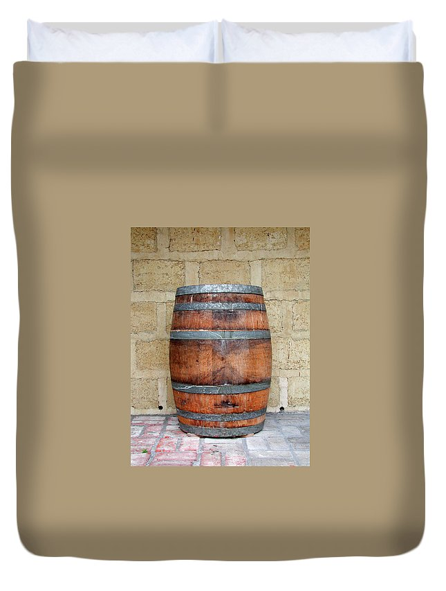 Alcohol Duvet Cover featuring the photograph Oak Wine Barrel by Sassphotos