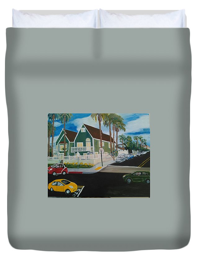 Painting Duvet Cover featuring the painting OB House by Andrew Johnson