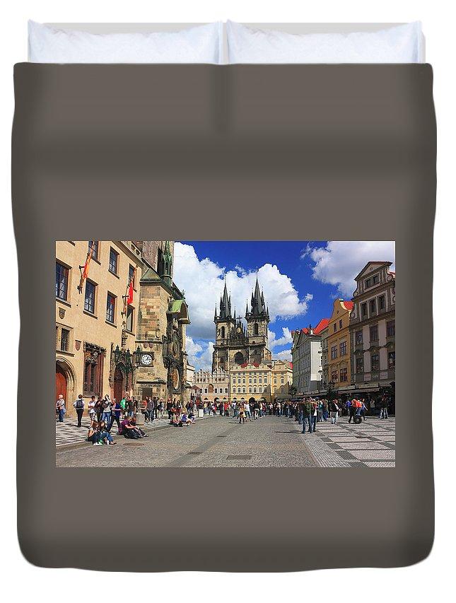 Architecture Duvet Cover featuring the photograph Old Town Square Prague Czech Republic by Ivan Pendjakov