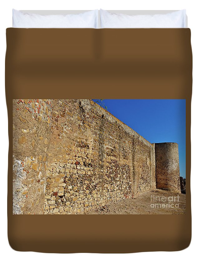 Wall Duvet Cover featuring the photograph Oldest Castle Of Castro Marim by Angelo DeVal