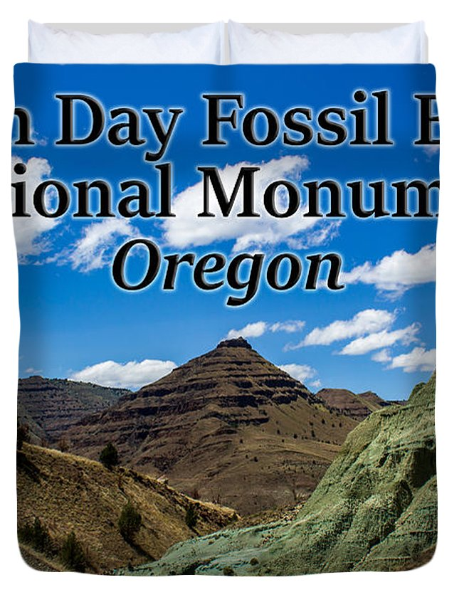 Oregon Duvet Cover featuring the photograph Oregon - John Day Fossil Beds National Monument Blue Basin by G Matthew Laughton