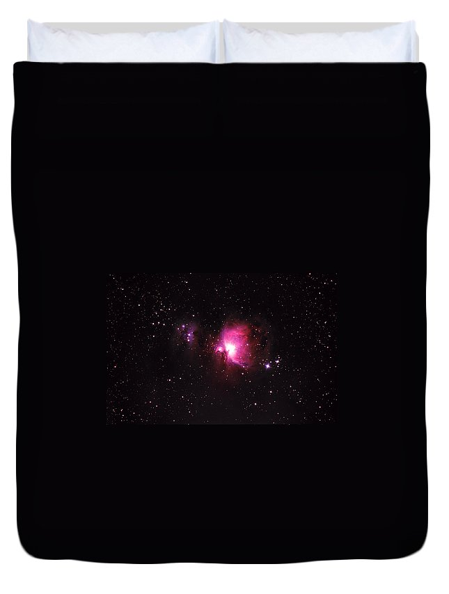 Natural Gas Duvet Cover featuring the photograph Orion Nebula by Plefevre