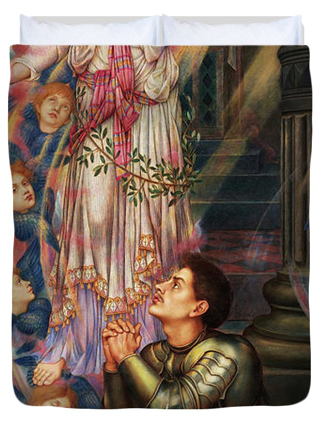Evelyn De Morgan Duvet Cover featuring the painting Our Lady Of Peace, 1907 by Evelyn De Morgan