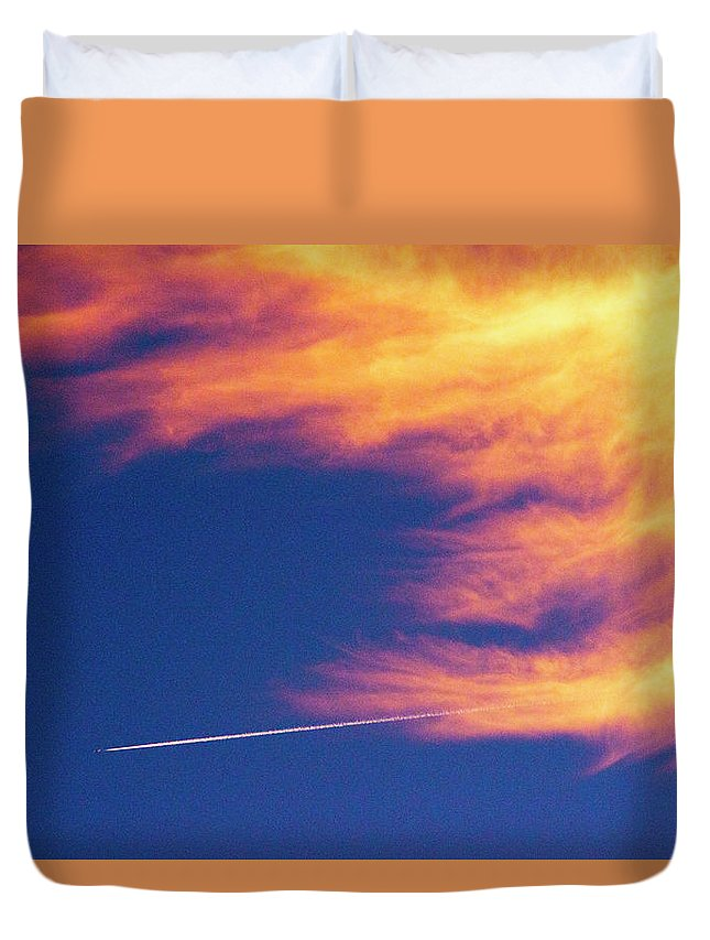D1-l-1076-d Duvet Cover featuring the photograph Out Racing The Devil by Paul W Faust - Impressions of Light