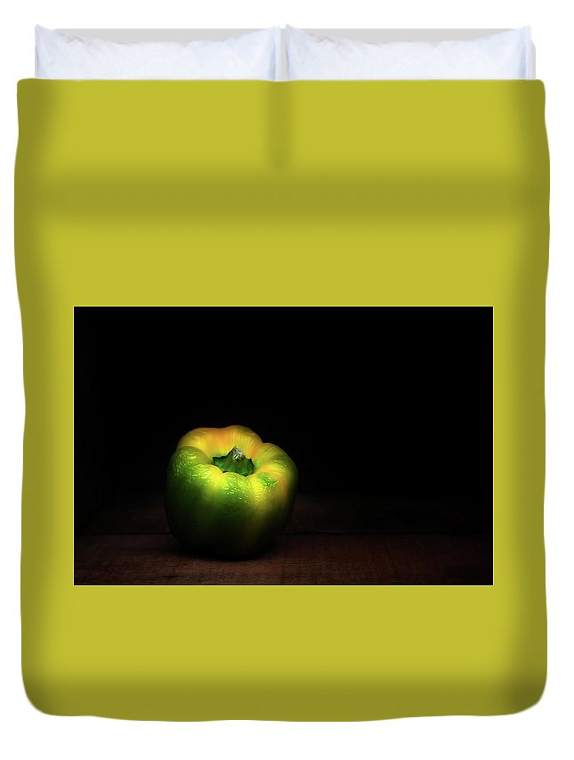 Bell Pepper Duvet Cover featuring the photograph Overripe Bell by Scott Norris