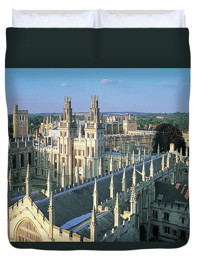 Education Duvet Cover featuring the photograph Oxford University, England, Uk by Peter Adams