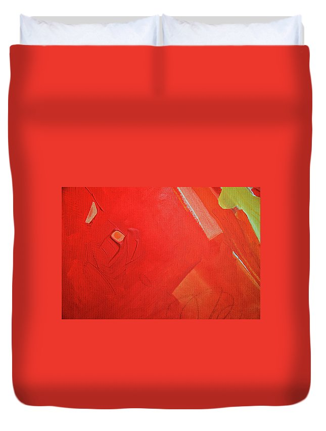 Gouache Duvet Cover featuring the digital art Painting On Canvas by Petekarici