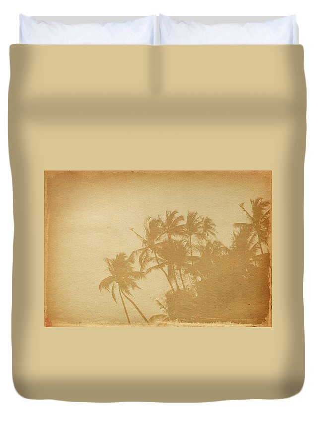 Aging Process Duvet Cover featuring the photograph Palm Paper by Nic taylor