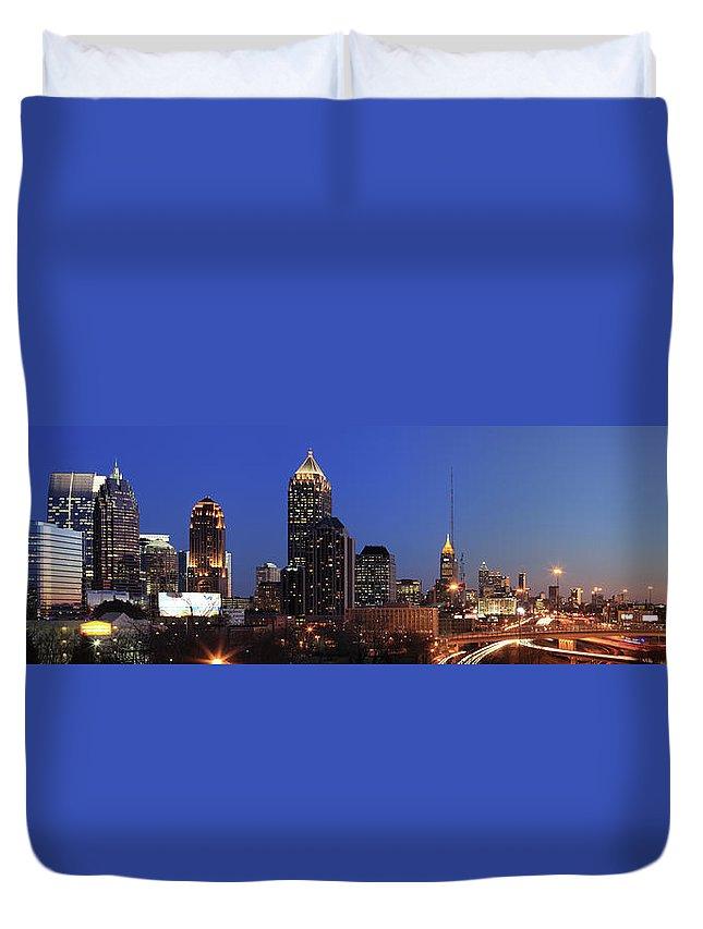 Atlanta Duvet Cover featuring the photograph Panorama Of Atlanta, Georgia by Jumper