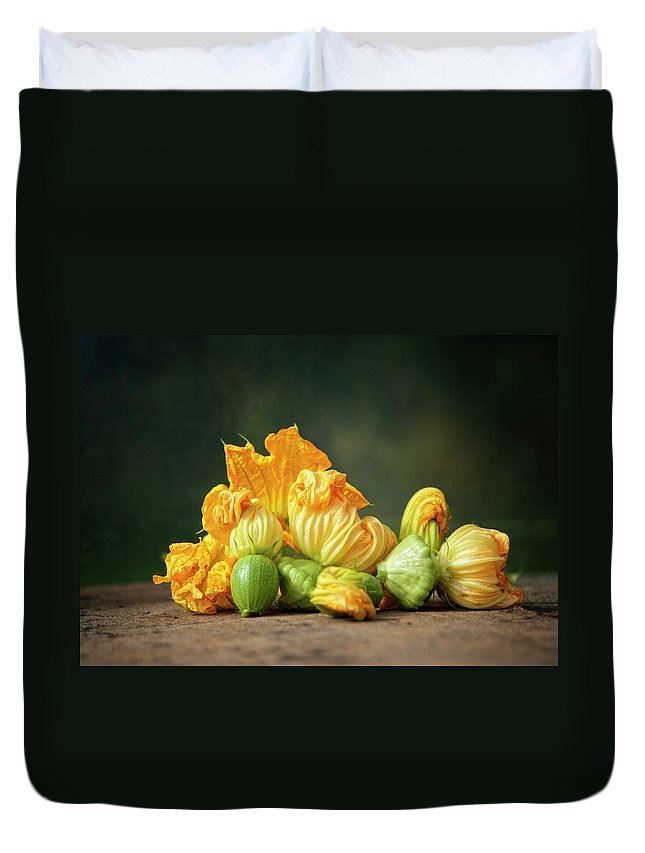 Healthy Eating Duvet Cover featuring the photograph Patty Pans by Jojo1 Photography