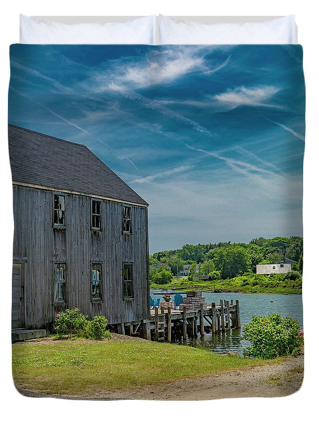 Kennebunkport Duvet Cover featuring the photograph Peaceful View Near Kennebunkport by Betsy Knapp