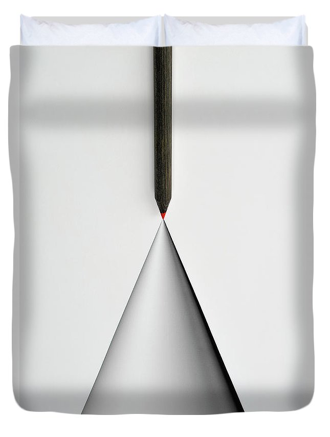 Art Duvet Cover featuring the photograph Pencil And The Structure Of The Cone by Yagi Studio