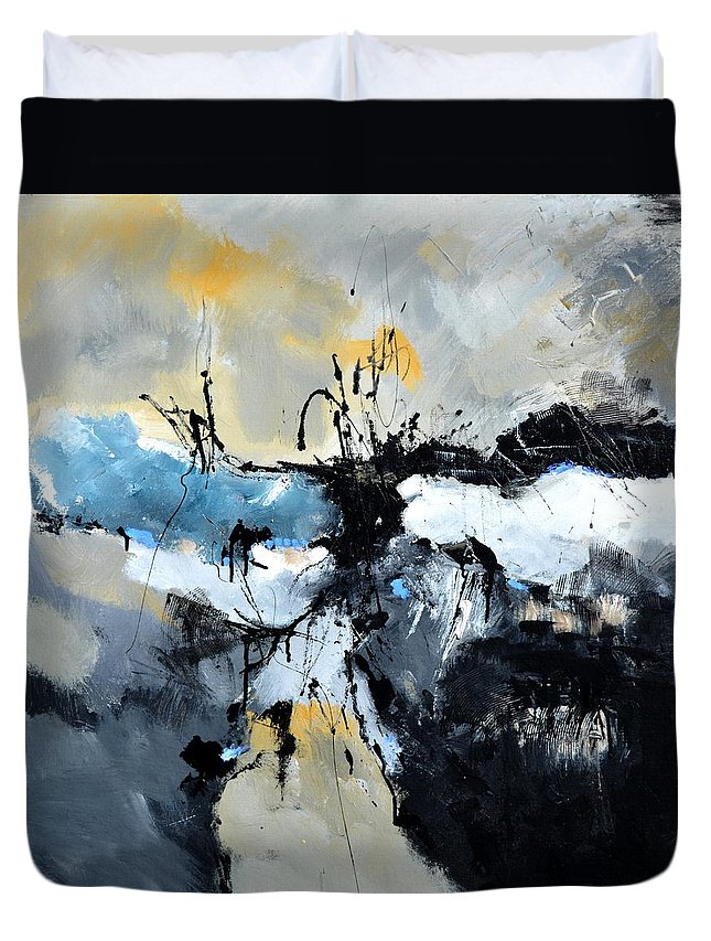Abstract Duvet Cover featuring the painting Persepolis by Pol Ledent