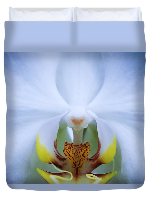 Outdoors Duvet Cover featuring the photograph Phalaenopsis Orchid by By Ken Ilio
