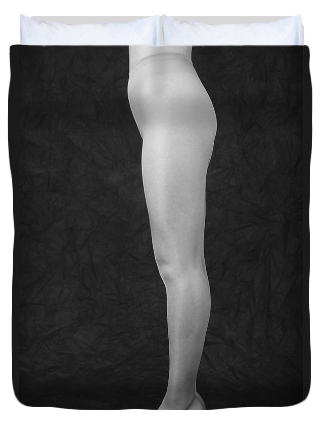 Cool Attitude Duvet Cover featuring the photograph Photography Of Standing Womans Legs by Daj
