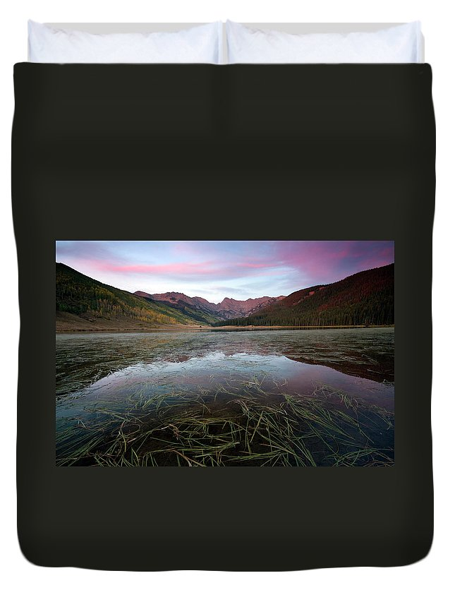 Scenics Duvet Cover featuring the photograph Piney Lake, Colorado by Lightvision