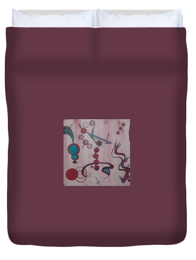 Duvet Cover featuring the painting Playing by Carol P Kingsley