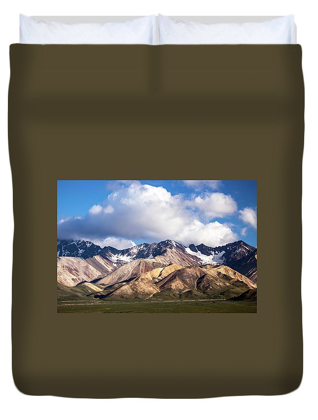 Tranquility Duvet Cover featuring the photograph Polychrome Overlook View by Daniel A. Leifheit