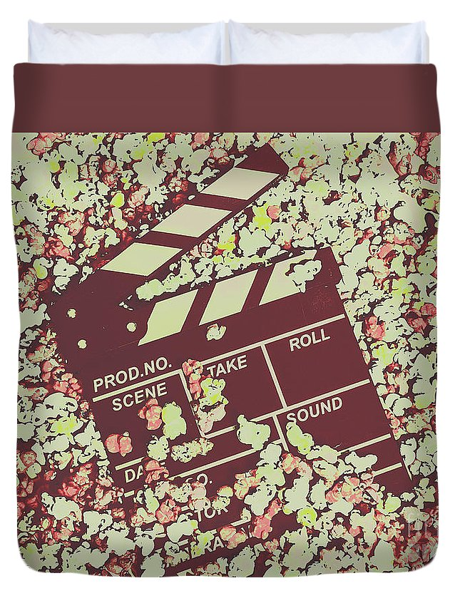 Production Duvet Cover featuring the photograph Popcorn Premiere by Jorgo Photography - Wall Art Gallery