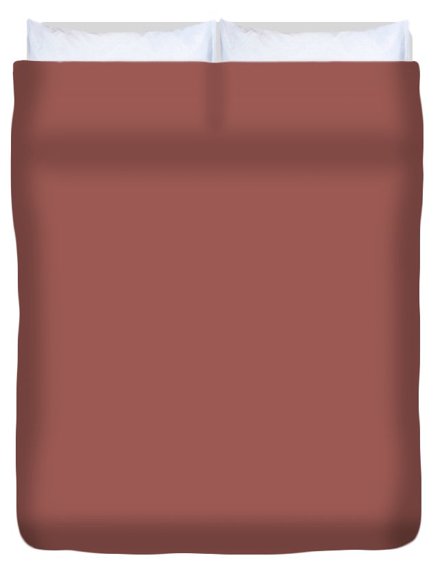 Ppg Glidden Trending Colors Of 2019 Fire Weed Muted Red Ppg1056-6 Solid  Color Duvet Cover