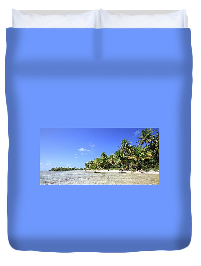 Tranquility Duvet Cover featuring the photograph Rangiroa - Isola Dei Coralli - Reef Isl by Loving And Living In This Planet