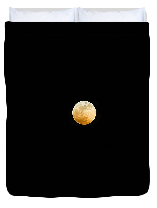 Shadow Duvet Cover featuring the photograph Red Moon by Stevedangers