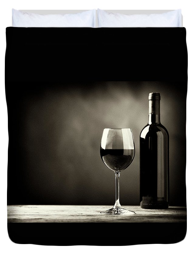 Alcohol Duvet Cover featuring the photograph Red Wine by Kaisersosa67