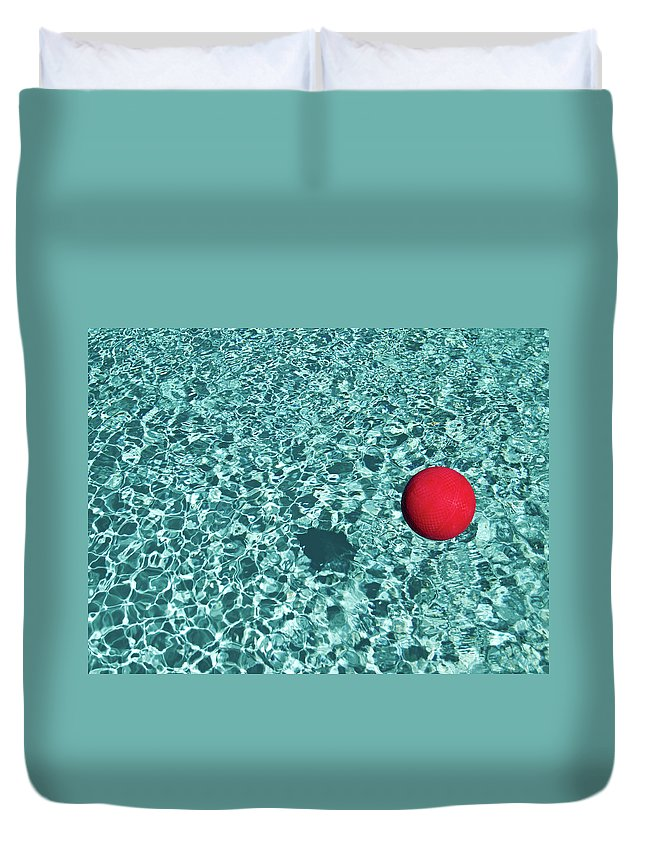Ball Duvet Cover featuring the photograph Reflection by Mark A Paulda