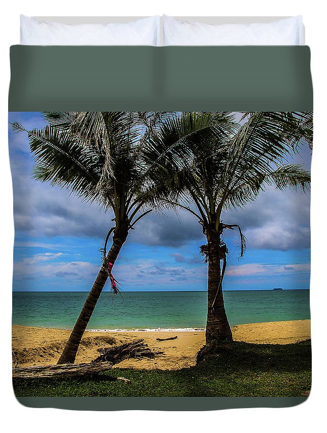 Palm Tree Duvet Cover featuring the photograph Relax Time by Emese Kis-Pal