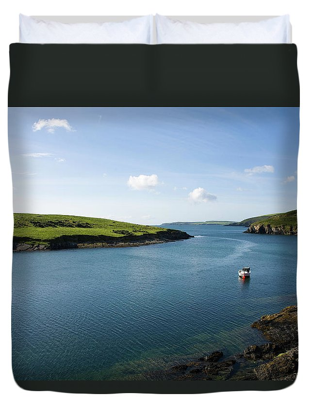 Scenics Duvet Cover featuring the photograph Republic Of Ireland, County Cork, Inlet by David Epperson