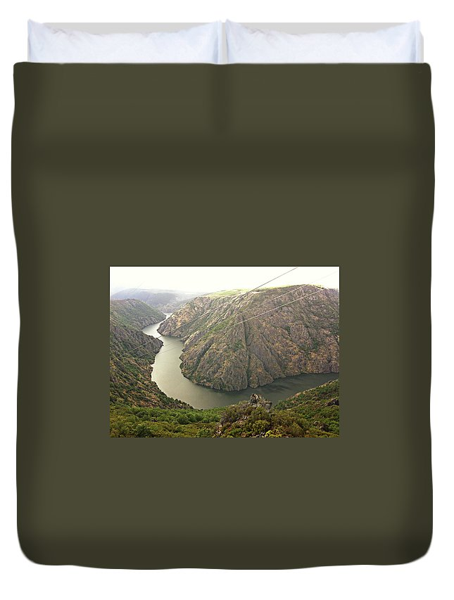 Tranquility Duvet Cover featuring the photograph Ribeira Sacra by Salomé Fresco