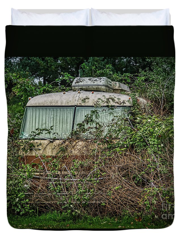Woods Duvet Cover featuring the photograph Rip Van Winkle's Rv by Janice Pariza