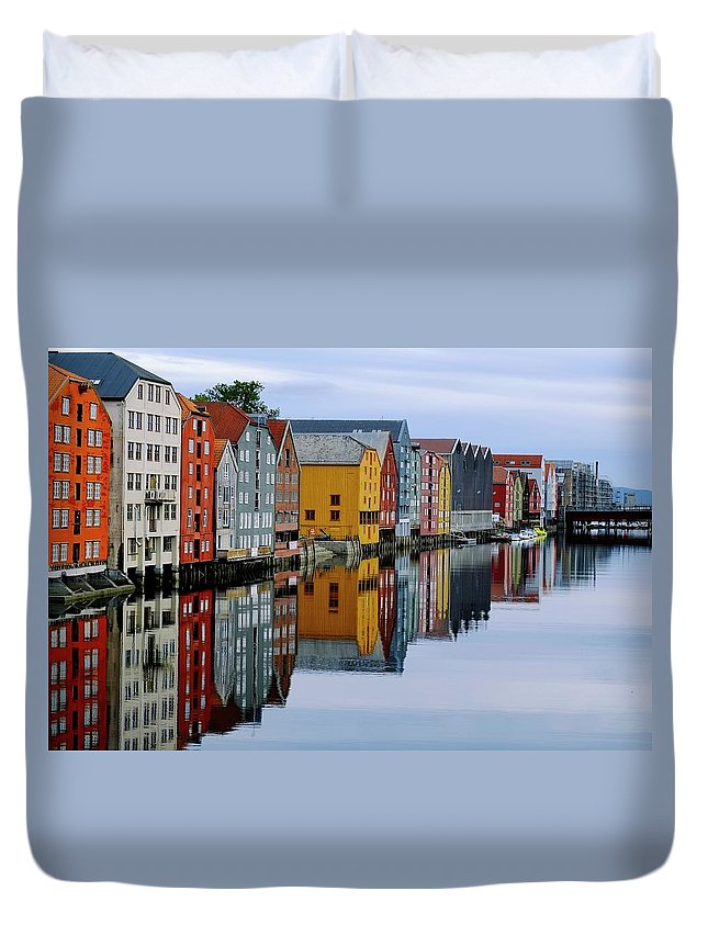 Tranquility Duvet Cover featuring the photograph River Accommodation 0.2 by Nir Leshem
