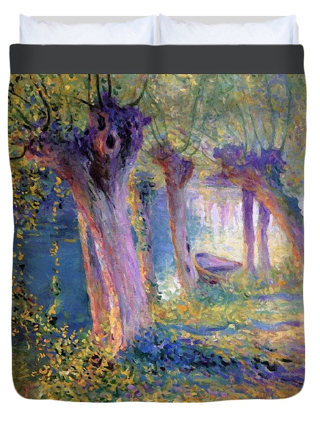 River Duvet Cover featuring the painting River Epte Giverny 1910 by Guy Rose