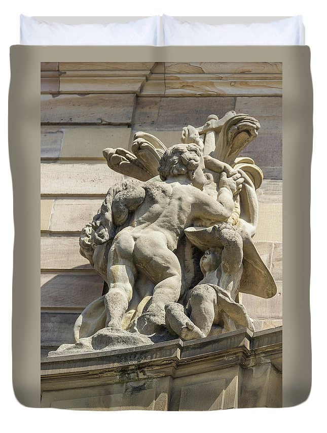 Alsace Duvet Cover featuring the photograph Rohan Palace Sculpture by Teresa Mucha