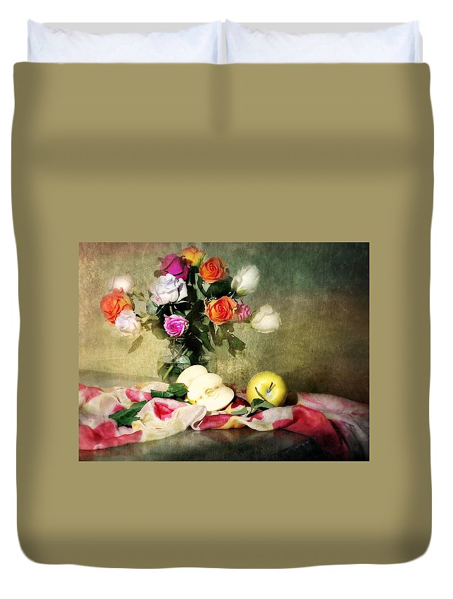Roses Duvet Cover featuring the photograph Rosy Pallet by Diana Angstadt