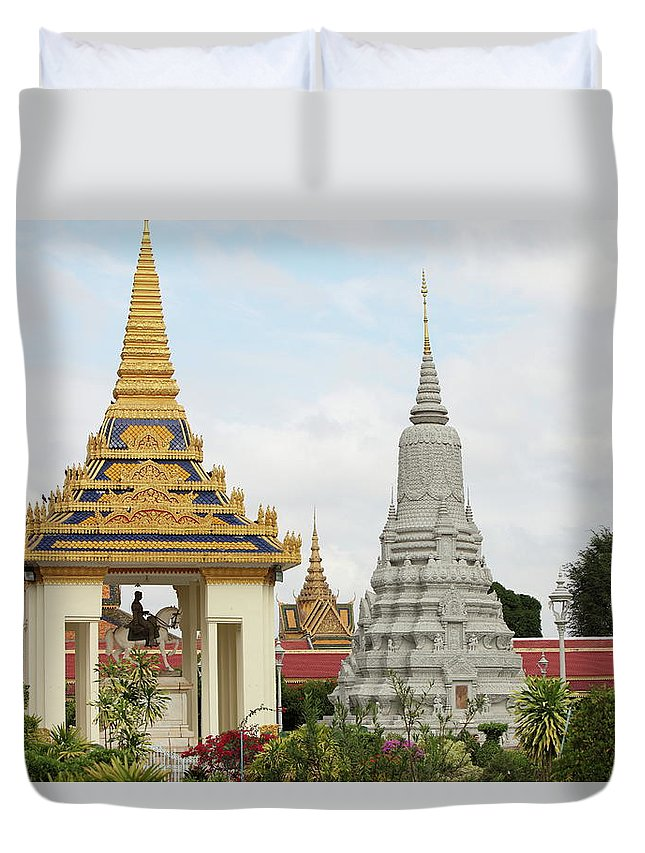 Southeast Asia Duvet Cover featuring the photograph Royal Palace In Phnom Penh, Cambodia by Laurent