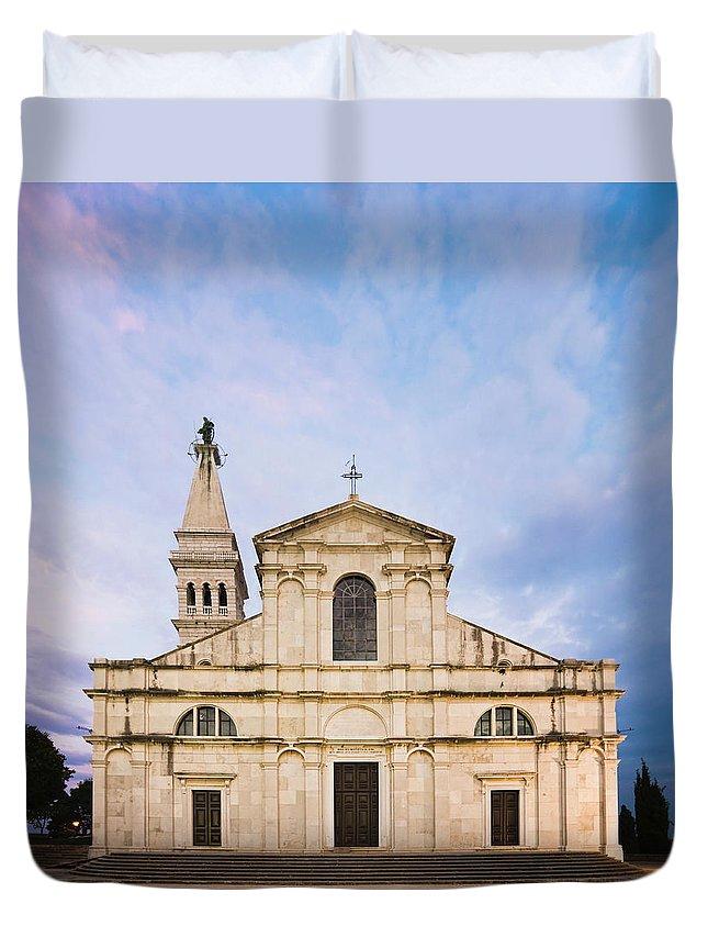 Outdoors Duvet Cover featuring the photograph Saint Euphemia Church by David Madison
