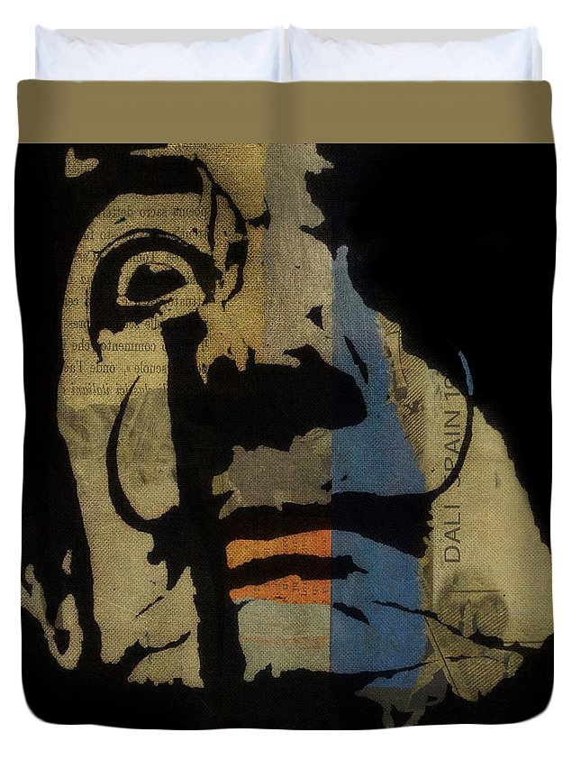 Vintage Poster Mixed Media Duvet Covers